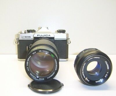 Fujica ST605 35mm Film SLR Camera M42 Mount + Hanimar 80-200mm Lens f4.5