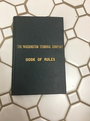 1925 Washington DC Terminal Company Book of Rules And Instructions Railroad