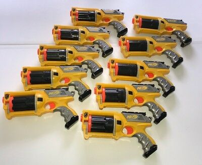 Nerf N-Strike Maverick Rev 6 Dart Gun Blaster Birthday Lot Of 10 Party Pack