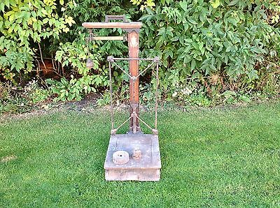 Vintage Industrial Platform Old Weighing Scales by W&T Avery of Birmingham