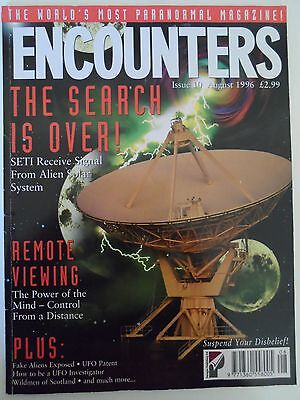 Encounters MAGAZINE #10 August 1996 SETI Signal Remote Viewing Aliens * RARE*