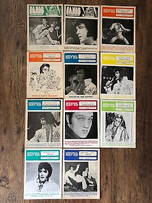 Elvis Presley Fan Club UK Official Magazine  - Job Lot  11 copies 1974/75