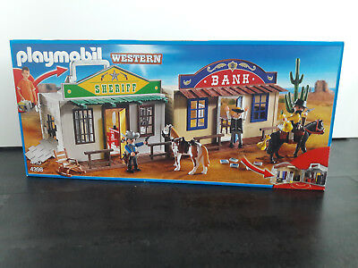 Playmobil 4398 Westernstadt Sherriff Office Western Bank NEU OVP