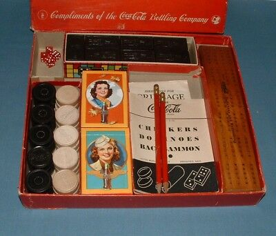 Vintage Coca Cola Multi Game Set - 1940's - Milton Bradley - Excellent Condition