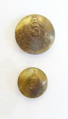 3rd Battn The Nizam's Hyderabad Infantry Other Ranks Tunic Buttons.