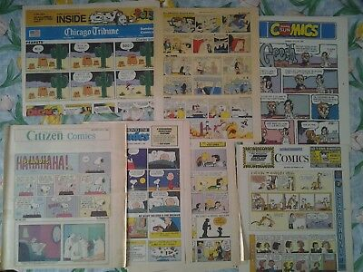 9 Newspaper Comics Sections 1990-95 Toronto Star Ottawa Citizen Chicago Tribune