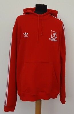802cc798d337 F656 Mens Adidas Liverpool Red White Hooded Hoodie Tracksuit Top Xl 44-46