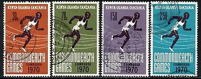 (Ref-11119) East Africa K.U.T. 1970 Commonwealth Games SG.74/77  Used