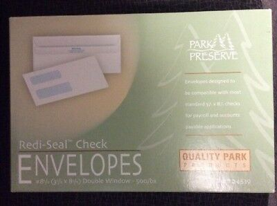 Quality Park 2-Window Tinted Redi Seal Check Envelope #8 5/8 3 5/8 x 8 5/8 White