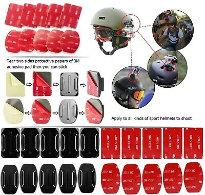 3M Flat Curved Surface Adhesive Sticker Pads Base Mount for GoPro 6 5 Xiaoyi