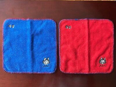 Kliban cat Hand Towels (Blue & Red) from Japan - New!