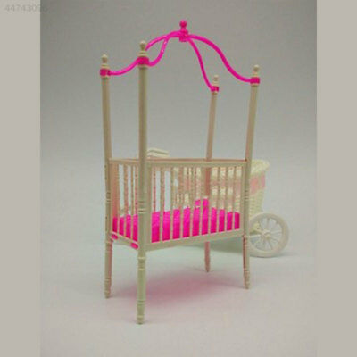 7DE7 Sweet Crib For Barbie Doll Furniture Kelly Doll's Baby Doll Accessories