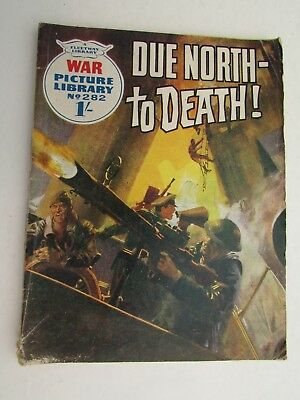 "Fleetway War Picture Library #282 ""due North To Death"" 1965 - War Comic"