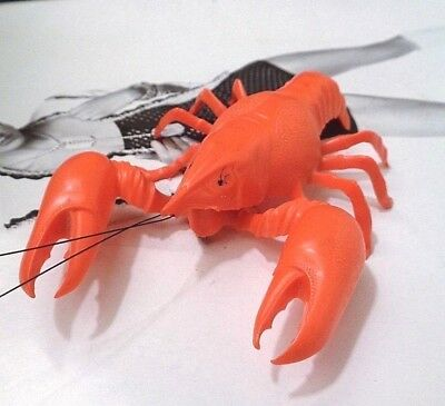 Vintage Lobster Bobble Claws West Germany  Breba  Dbgm Orange Red Plastic