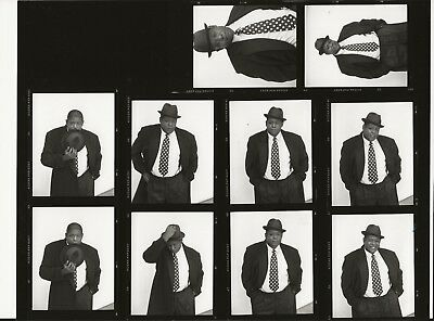 *N929 VINTAGE MOVIE 8X10 CONTACT SHEET PHOTO Forest Whitaker BIRD Charlie Parker