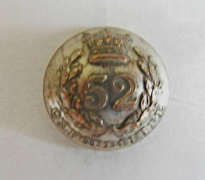 52nd (Oxfordshire Light Infantry) Officer's Coatee Button.