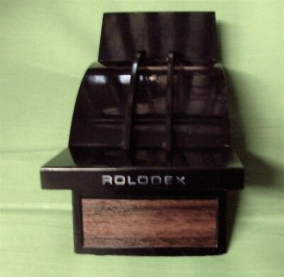 Rolodex V-Glide GL-24 Black Vintage Used Good Condition No Cards FREE SHIPPING