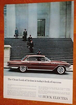 Gorgeous 1961 Buick Electra 4 Dr Ht In Wine Red Ad - Retro 60S Vintage Luxury