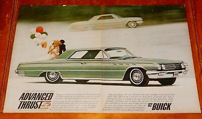 1962 Buick Electra 225 Coupe In Green Advanced Thrust Large Ad - Vintage Retro