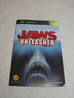 instruction manual only jaws unleashed original xbox no game