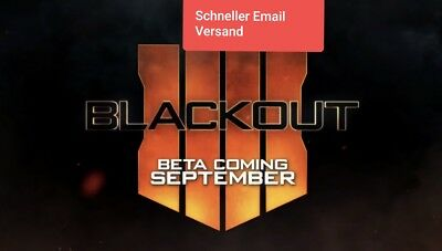Call Of Duty Black Ops 4 Blackout Beta Code Ps4 Xbox Pc (bo4) BLACKOUT