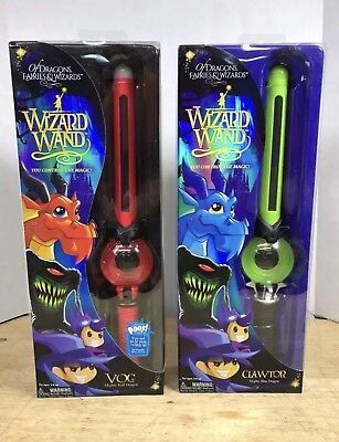 Of Dragons Fairies and Wizards Wand Red VOG Mighty Red & Green Set Of 2