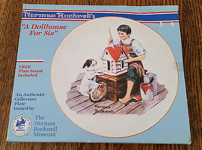 1984 Norman Rockwell A Dollhouse For Sis Collectors Plate in the original box