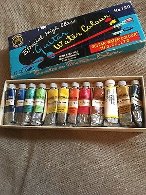 Vintage Box Of 12 Watercolour Tubes