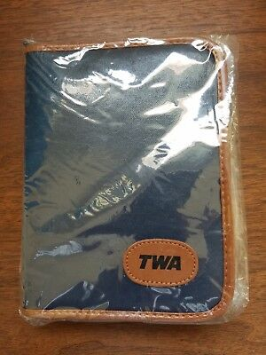Vintage rare office-style TWA (Trans World Airlines) inflight amenity kit NEW