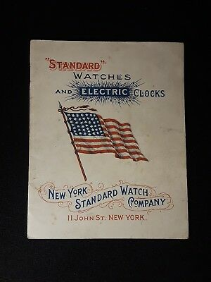 Antique New York Standard Watch Company Watch and Electric Clock Catalog