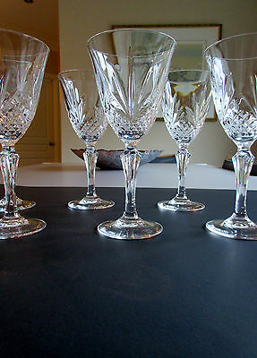 "Vtg Glassware : Crystal d' Arques J.G Durand Set of 6 Wine / Water Goblets  6"" ½"