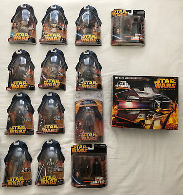 Star Wars Episode III (3) Revenge of the Sith Figures, Ship, Exclusives - Sealed
