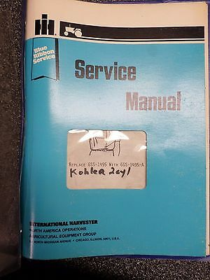 IH BLUE RIBBON  CUB CADET 2 Cylinder Kohler Engine SERVICE MANUAL 1984 Vintage