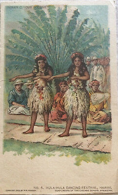 Hula-Hula Dancing Festival Hawaii Our Colonies Series C Vintage Early Postcard
