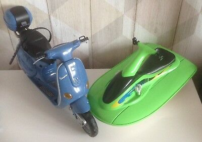 Barbie My Scene Doll Vehicles - Moped And Jet Ski