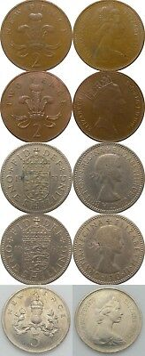 United Kingdom / Assorted 5 Coin Lot / 1953, 1963, 1970, 1971 &1994