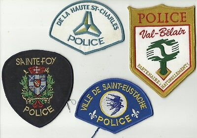 St-Eustache / Val-Bélair / Hte St-Charles  / Ste-Foy (QUEBEC) Police Patches