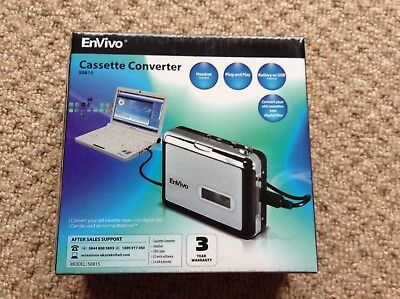 Envivo Cassette Converter - Model 50815 convert old cassette tapes to digital.