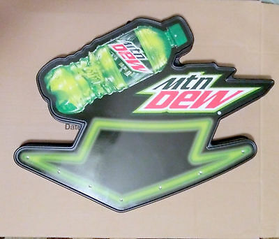 Mountain Dew Light Up Led Storefront Sign Bar Decor Man Cave-Works Great-Nib
