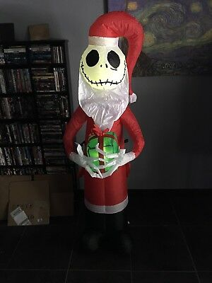 Gemmy 5.5ft Jack Skellington Santa Christmas Inflatable Blow Up Blowup