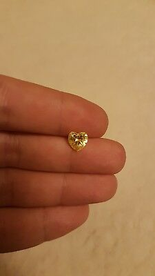 1pcs 3.83ct 8mmx7mm loose citrine stone, natural heart shape gem, beautiful gem