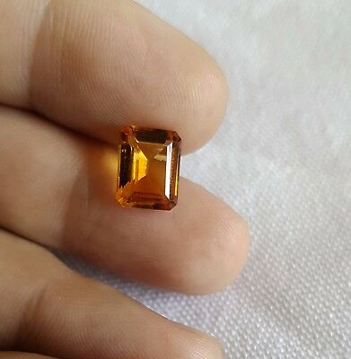 1pcs 3ct 10x7 loose Citrine stone, Natural Baguette gemstone, Beautiful stone