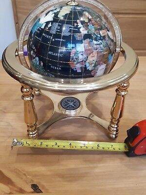 Vintage Globe With Compass Underneath