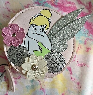 Primark Disney Tinkerbell Pink Coin Purse Brand New With Tags
