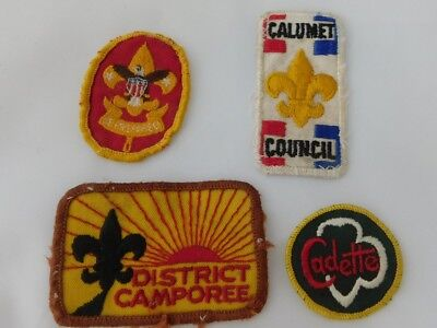 Lot of 4 Vintage Boy and Girl  Scout Patches