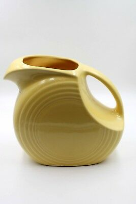 Vintage Fiesta Ware Light Yellow Disk Ice Water Pitcher Perfect Condition