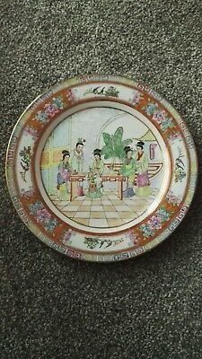 Vintage antique Chinese Plate Hand Painted Beautiful