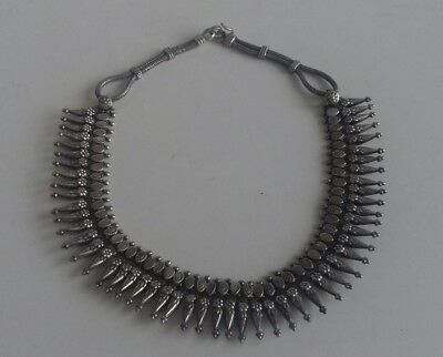 Antique Indian Rajasthan Metal Tribal Necklace Choker