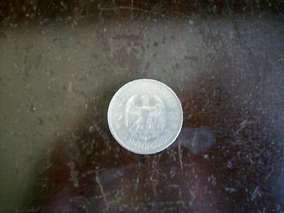 GERMANY 5 Mark 1968G silver FREE SHIPPING