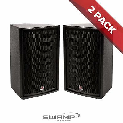 "2x SWAMP BT-12 - 2-way Passive 12"" PA Speaker - 300W RMS - Foldback Wedge"